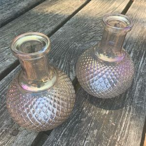 Iridescent Glass Vase Set